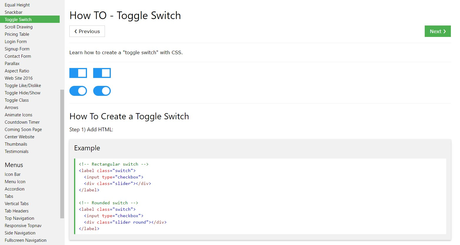 Tips on how to  produce Toggle Switch