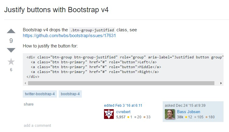 Maintain buttons  by using Bootstrap v4