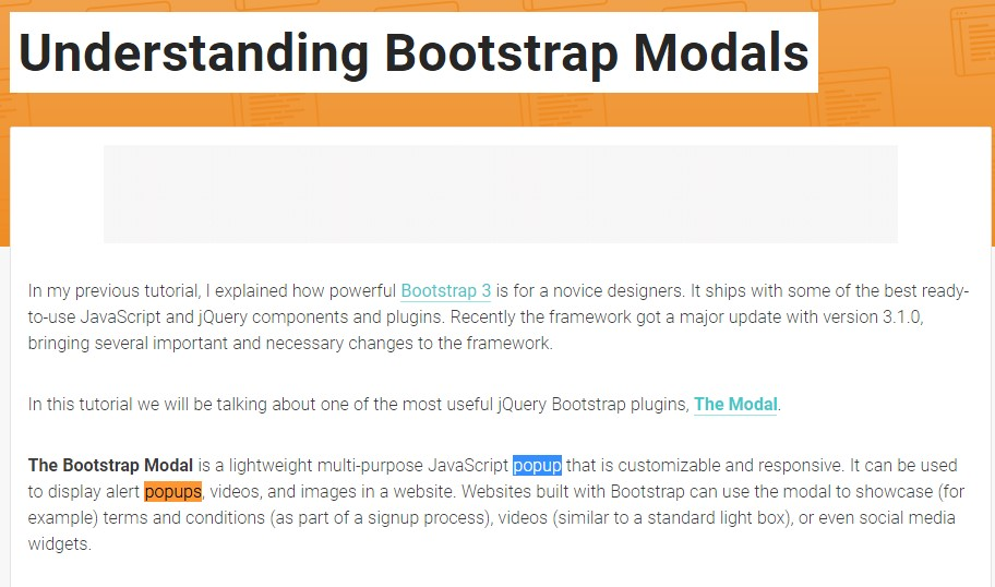 An additional  valuable article  concerning Bootstrap Modal Popup