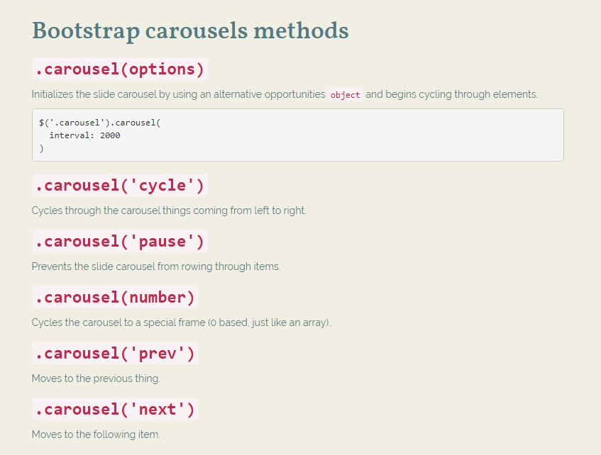 Carousel Bootstrap Examples