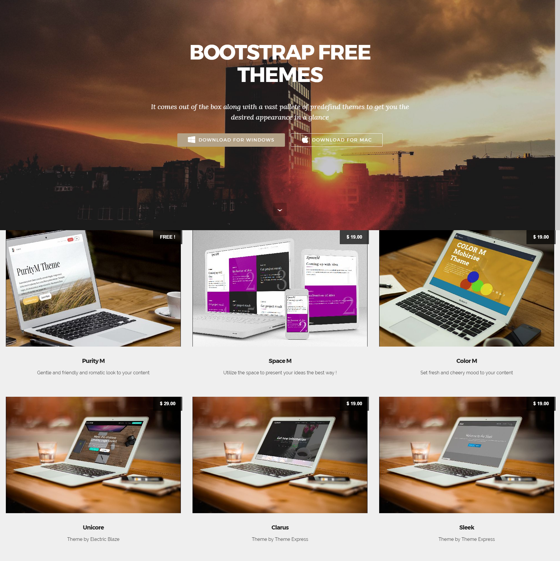 Free Bootstrap Mobile-friendly Themes