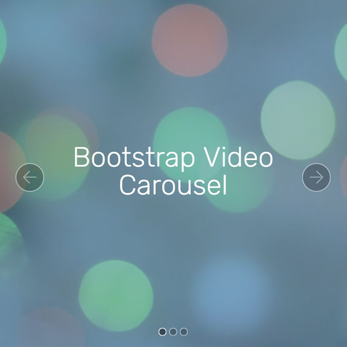 JavaScript Bootstrap Photo Slider