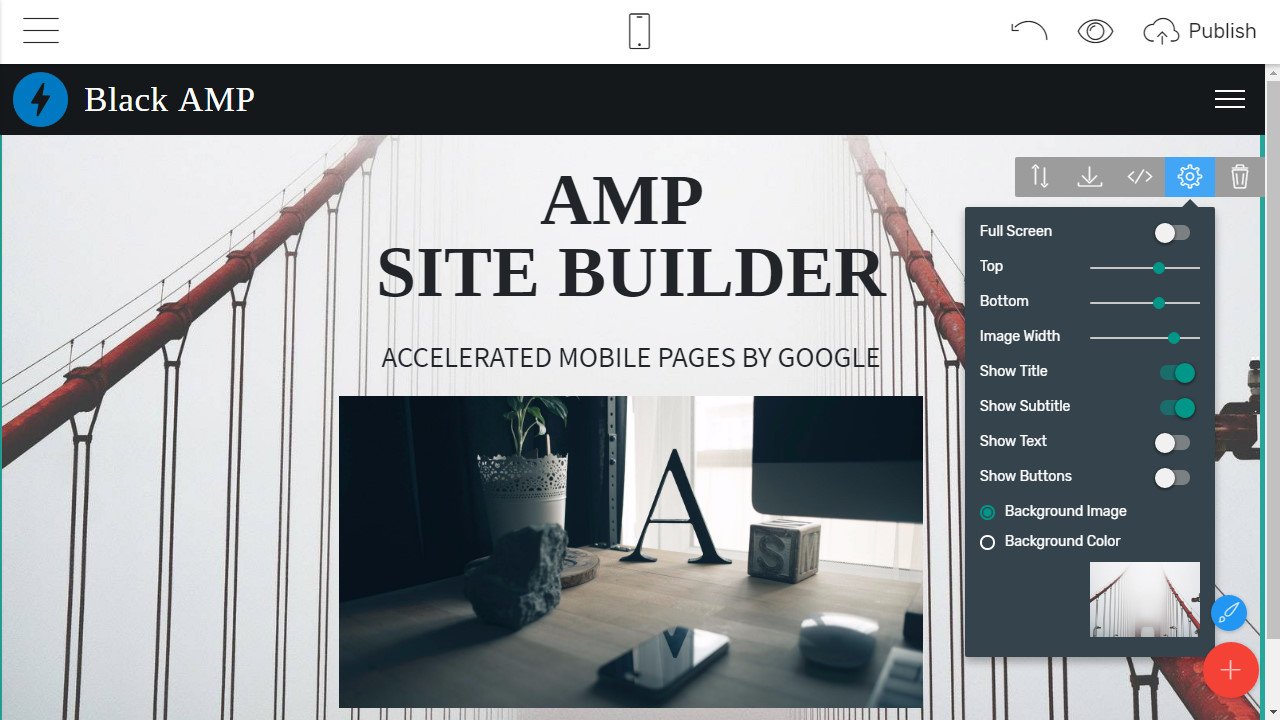 Mobile-friendly Page Creator
